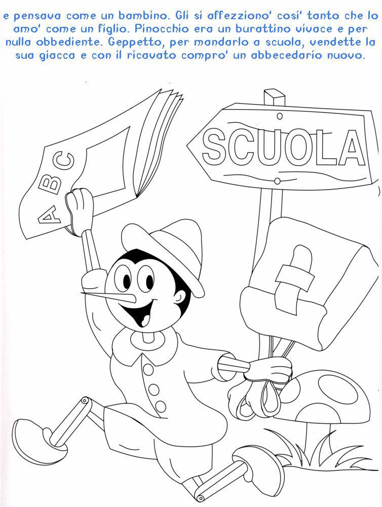 Colora Fiaba Pinocchio 2 Disegni Per Bambini Da Colorare