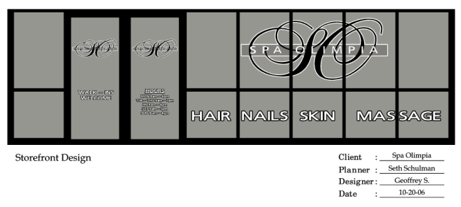 Hair Salons  Spas Storefronts  Graphics - hair salon sign in sheet