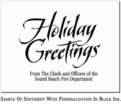 Christmas Holiday Greeting Cards - EMS - christmas cards black and white