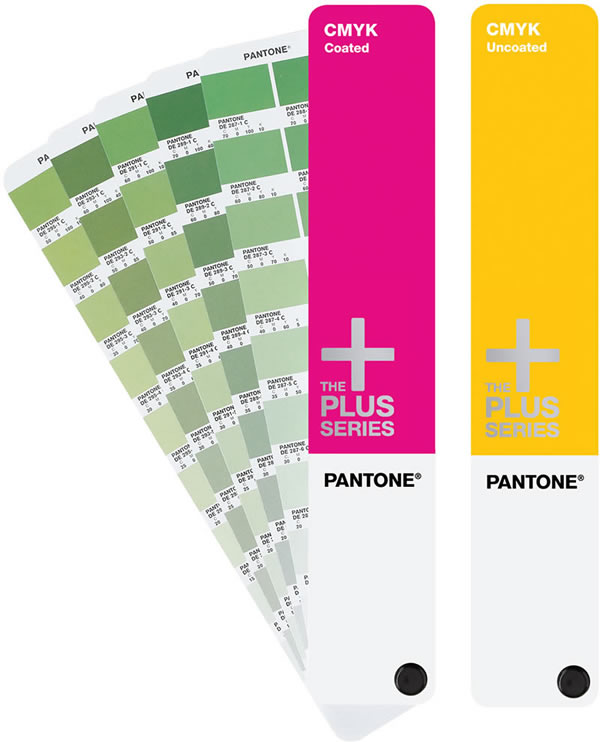 Pantone CMYK Coated Uncoated Process Guide Book Set - sample cmyk color chart