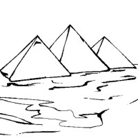 Coloriage En Ligne Egypte.Coloriage Egypte Pyramide Egypte 9