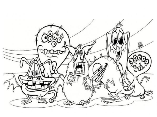 coloriage monstre et cie jacques qui fait peur dessin