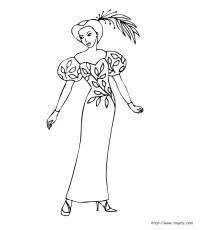 Coloriage De Fille Mannequin A Imprimer.Dessins Gratuits Colorier
