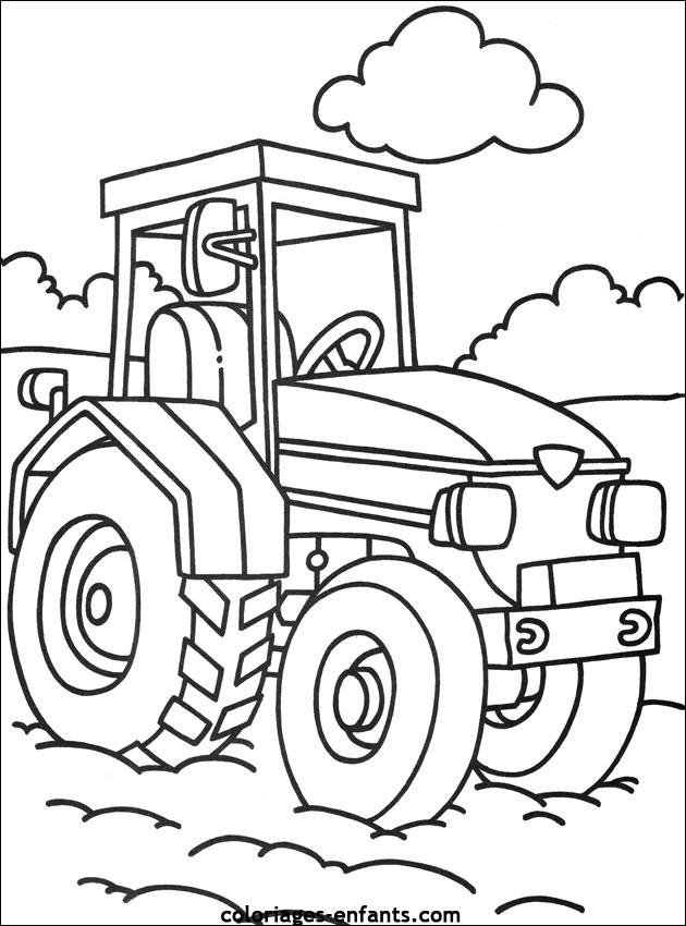 coloriages de tracteur a colorier en ligne