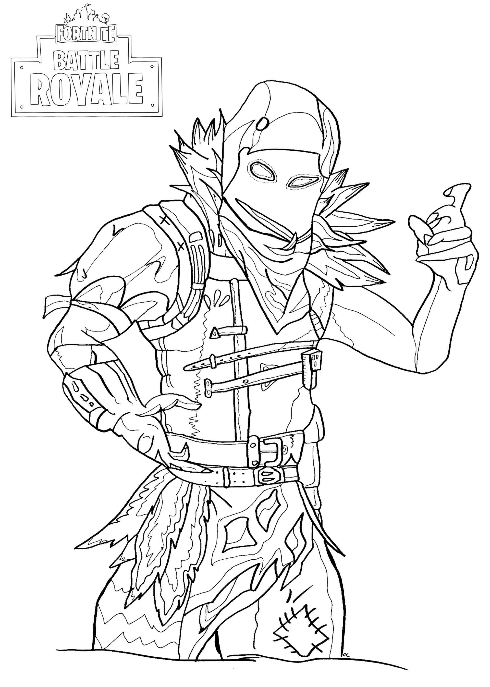 fortnite coloring pages raven to print free coloring pages