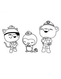 Octonauts Da Colorare Captain Barnacles Of The Octonauts And