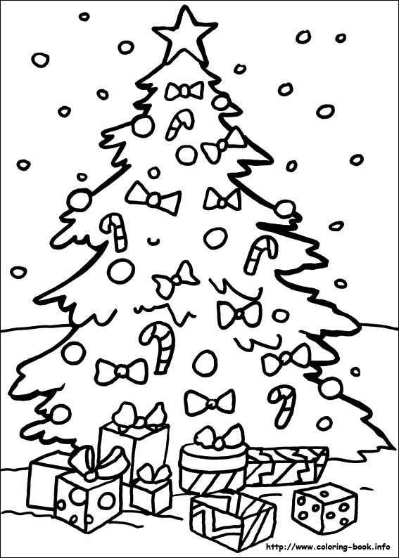 Christmas coloring pages on Coloring-Bookinfo
