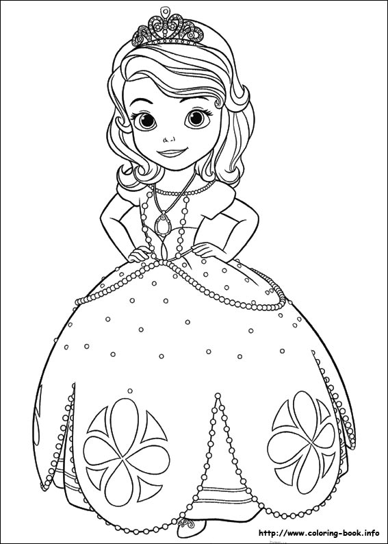 Sofia the First coloring pages on Coloring-Bookinfo
