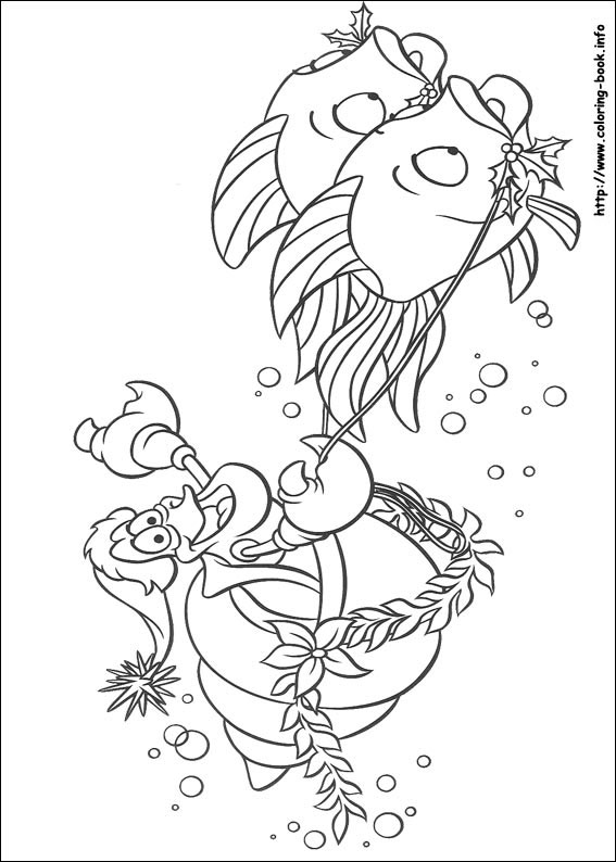 The Little Mermaid coloring pages on Coloring-Bookinfo