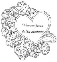 Disegno da colorar antistress Festa della mamma 8