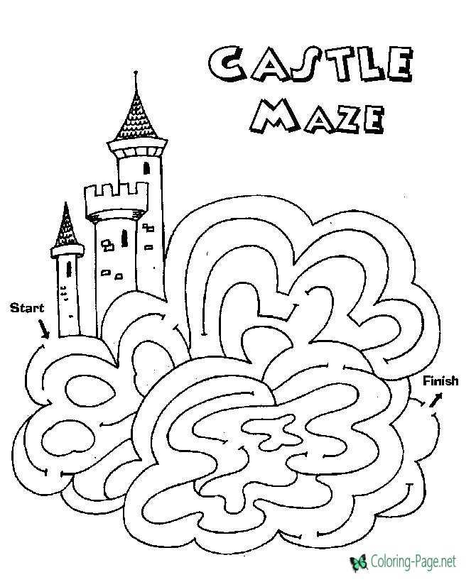 Castle Kids Printable Mazes