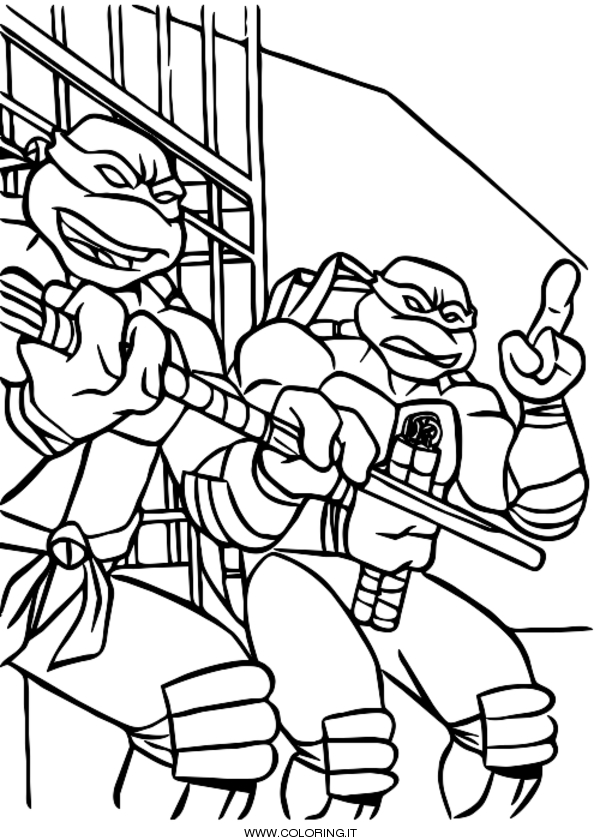 Tartarughe Ninja Disegni Da Colorare