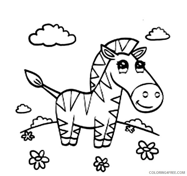 Zebra At The Meadow Coloring Page Auto Electrical Wiring Diagram