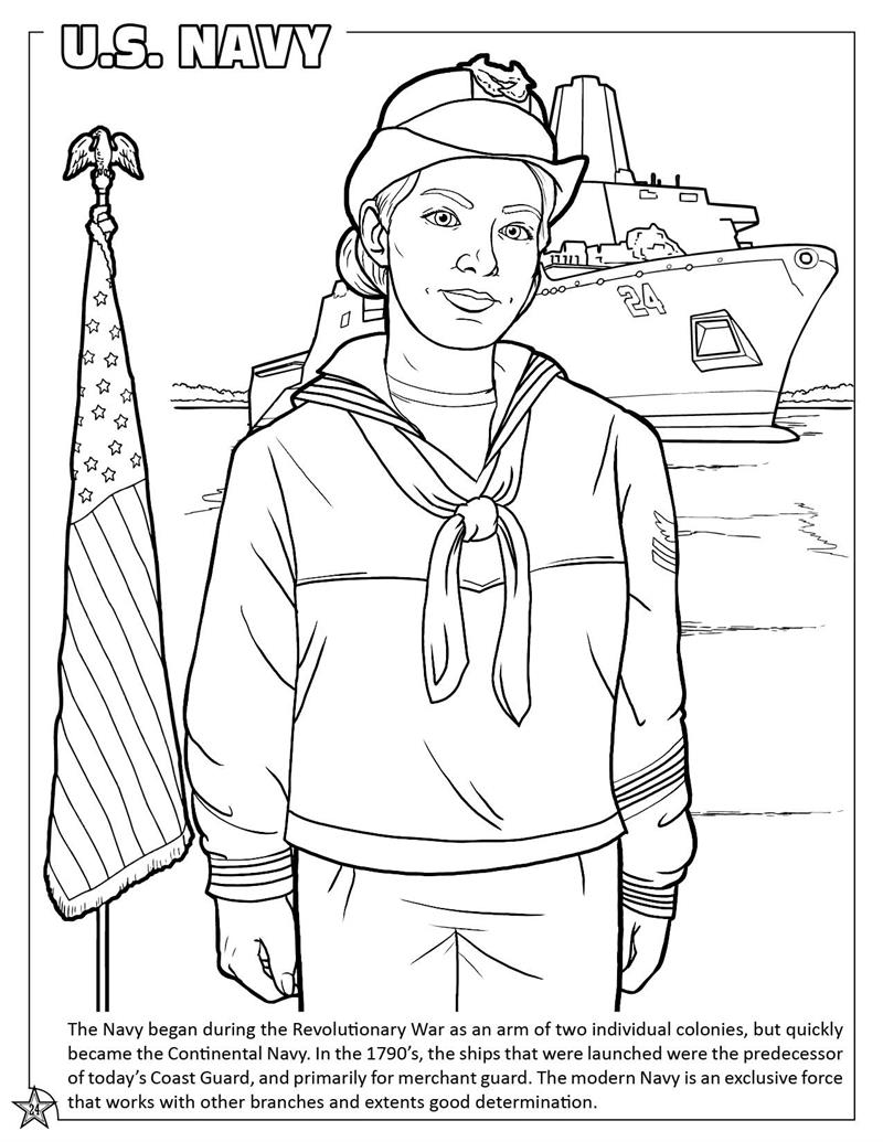 Free Military Coloring Pages Army Navy Air Force And Marines