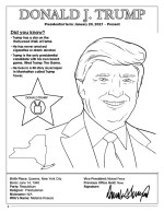 Donald Trump President Coloring Page