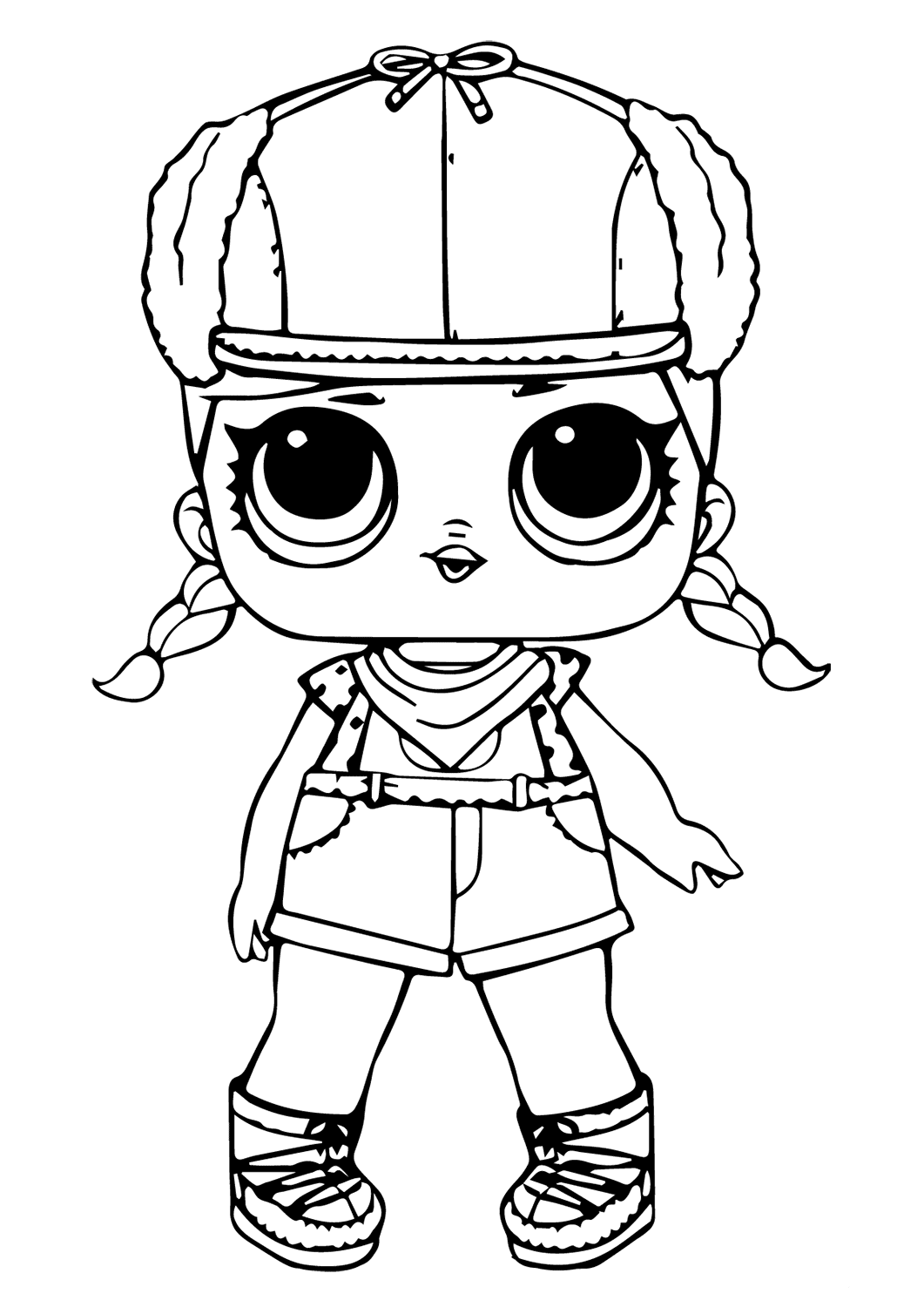 angel doll coloring page lol pages pets surprise dolls