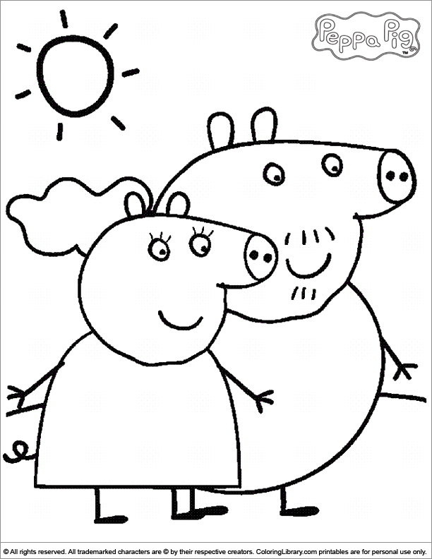 Peppa pig coloring pages 004 pictures to pin on pinterest