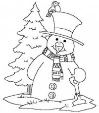 Sketches Of Winter Scenes Coloring Pages