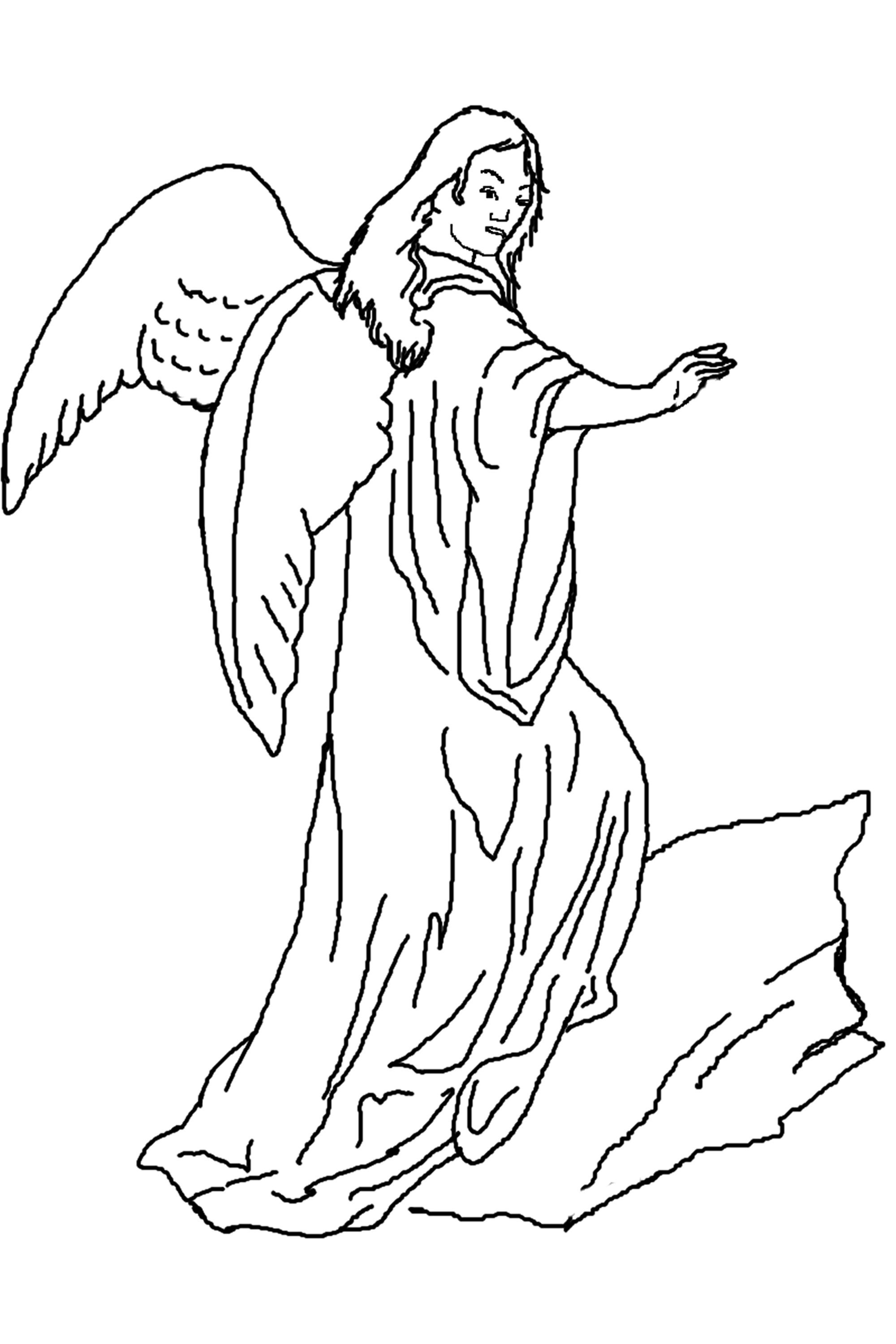 printable coloring pages angels