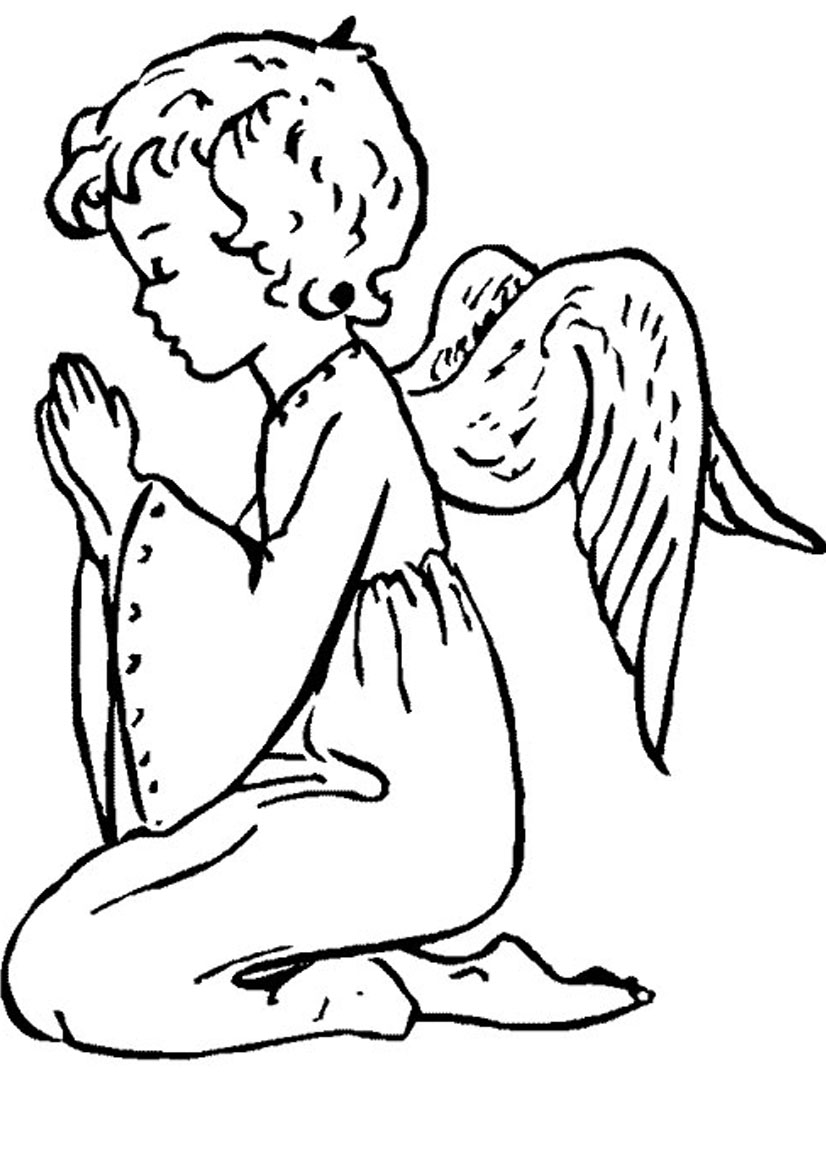 Printable coloring pages angels - Printable Coloring Pages Angels Baby Angel Coloring Pages Download