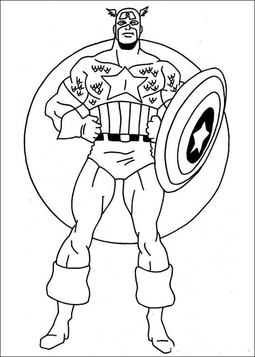 Captain America Color Page - Costumepartyrun