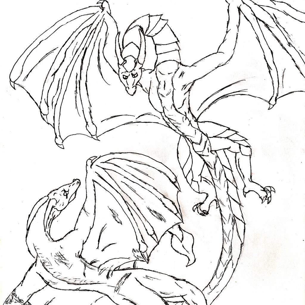 Printable coloring pages of dragons -  Dragon Printable Coloring Sheets Download