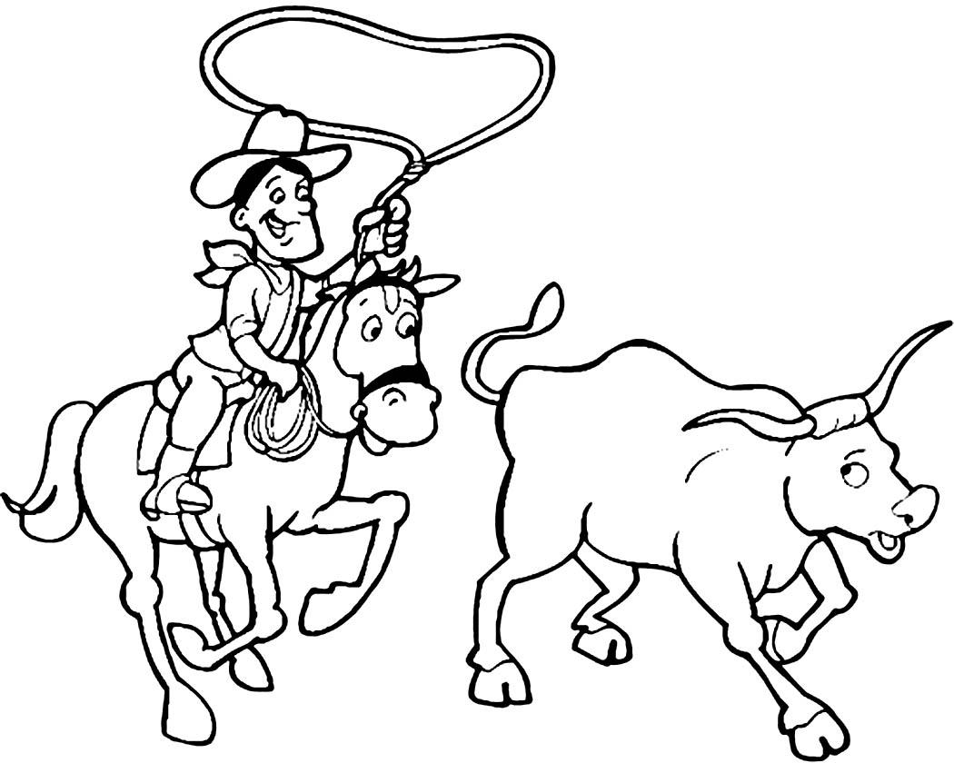 Cowgirl Coloring Pages - Democraciaejustica