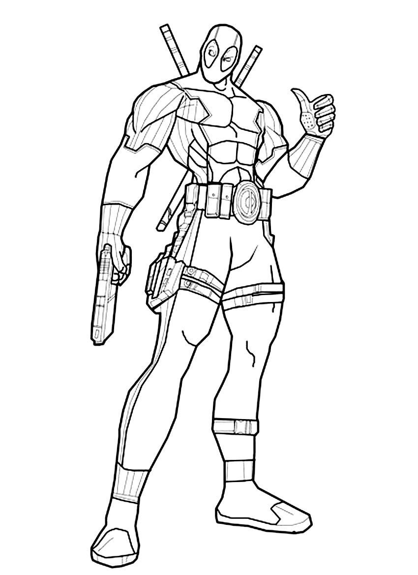 Free coloring pages of deadpool und deathstroke