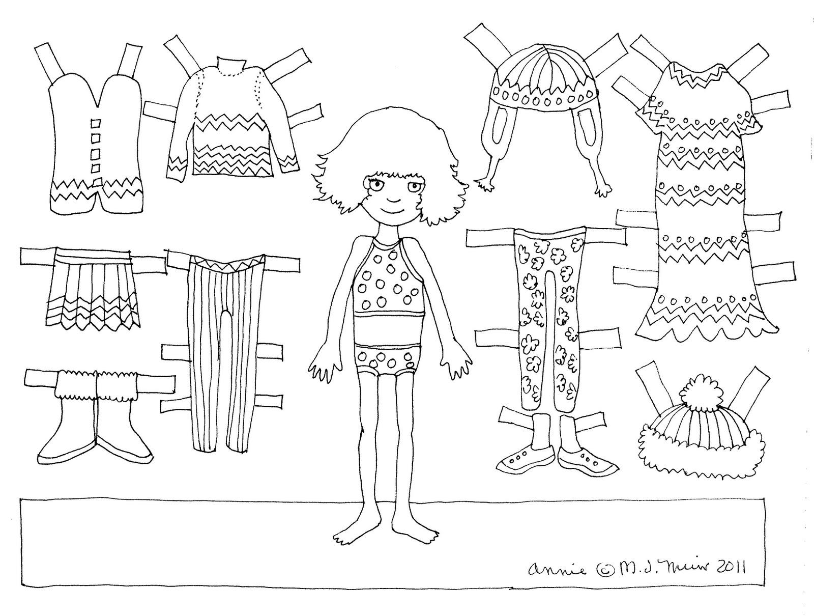 Paper Doll Coloring Page - Eskayalitim