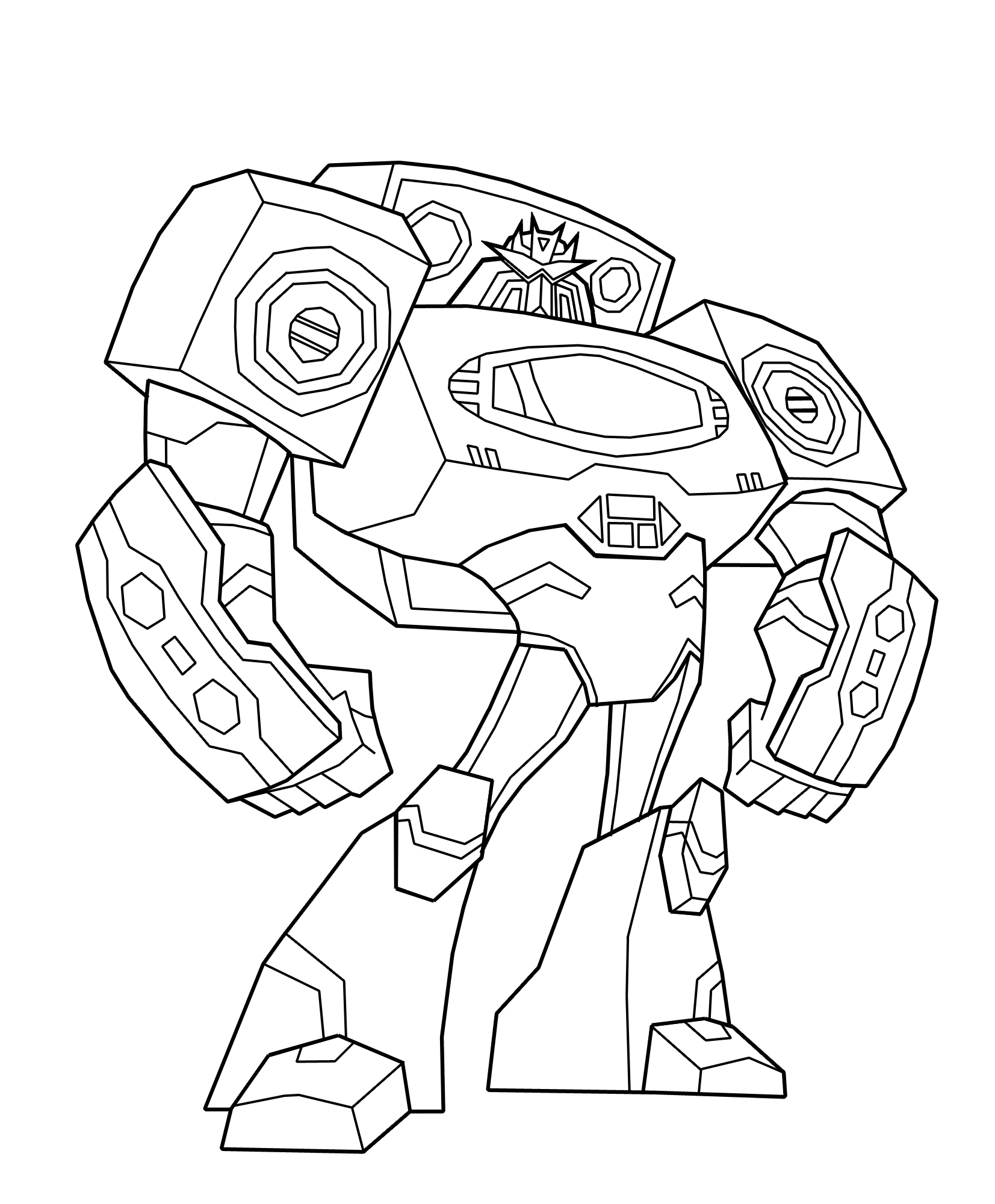 Bumblebee Transformer Coloring Pages Printable Virtrencom