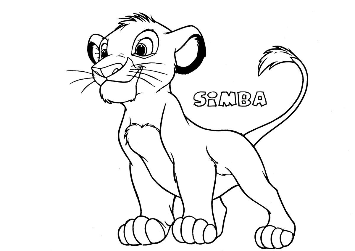 Simba Coloring Pages - Costumepartyrun