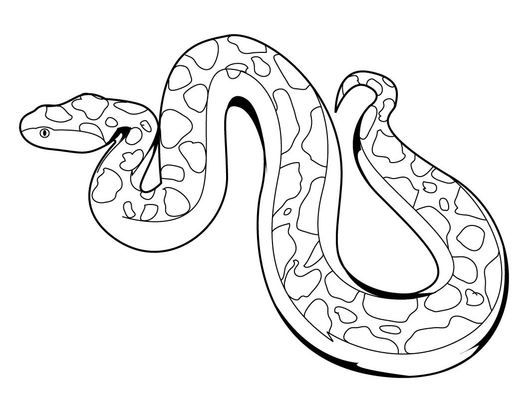 Cozy Printable Snake Coloring Pages Coloring Me - Car-essay
