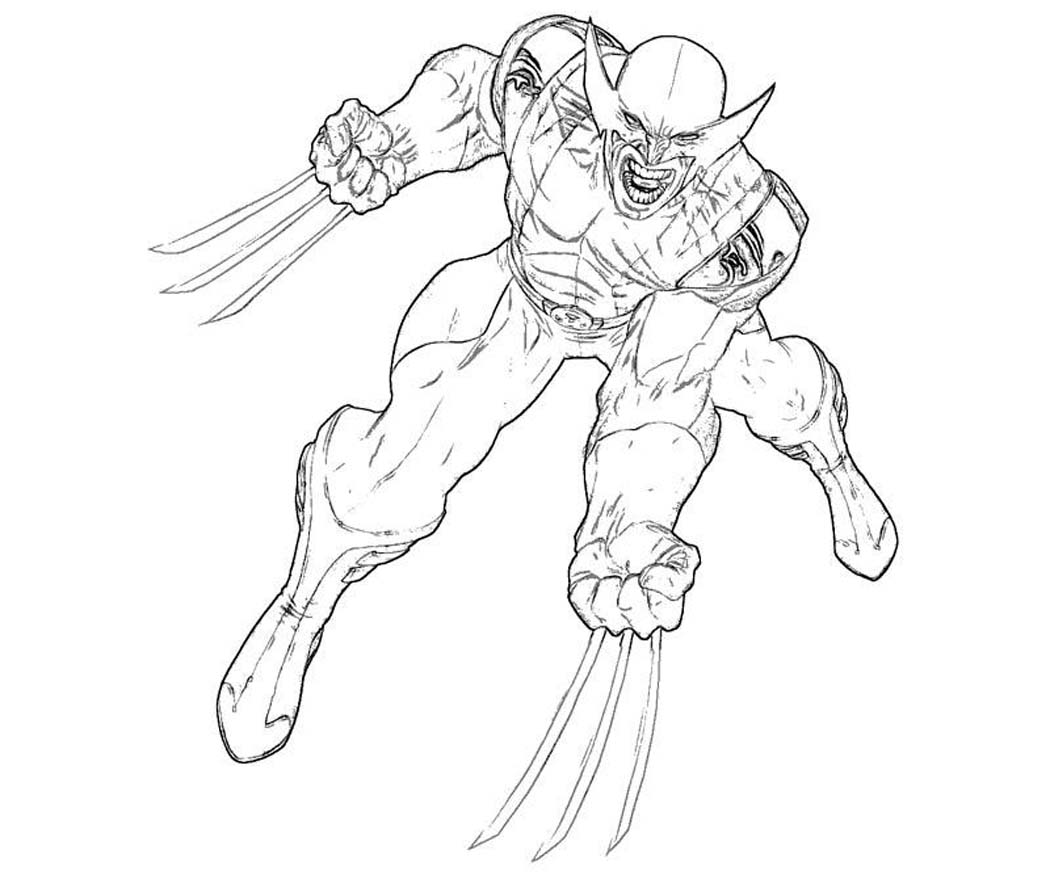 Wolverine Color Pages - Eskayalitim