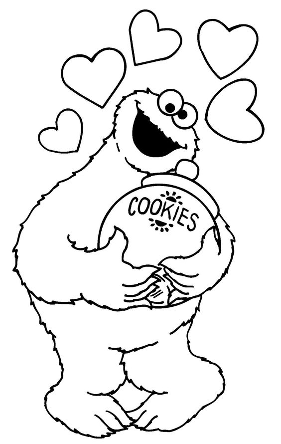 Printable Cookie Monster Coloring Pages Coloring Meprintable cookie