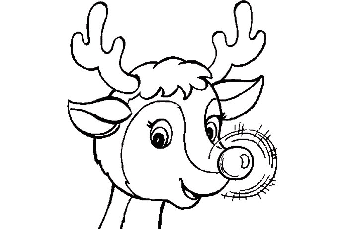 Rudolph Coloring Pages - Democraciaejustica