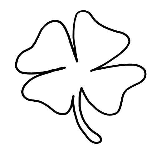 Printable Shamrock Coloring Pages Coloring Me - shamrock color pages