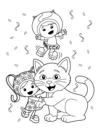 √ Team Umizoomi Coloring Pictures | Milli, Geo and Bot