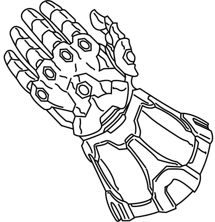 Beautiful Infinity Gauntlet Coloring Pages Best Image Of