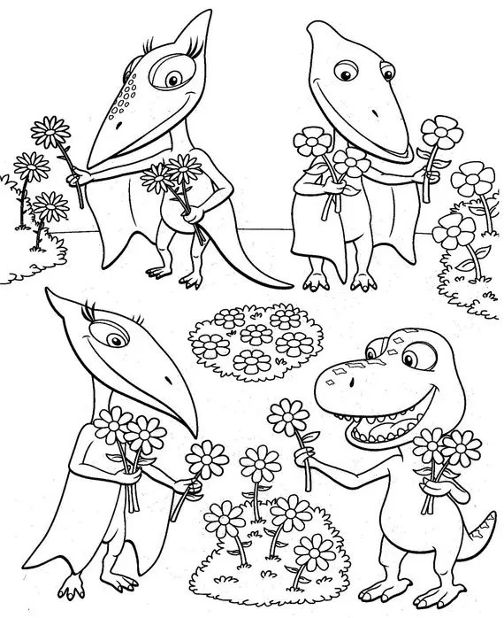 Dinosaur Train Coloring Page coloring page  book for kids