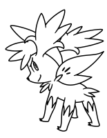 Pokemon Shaymin Coloring Pages
