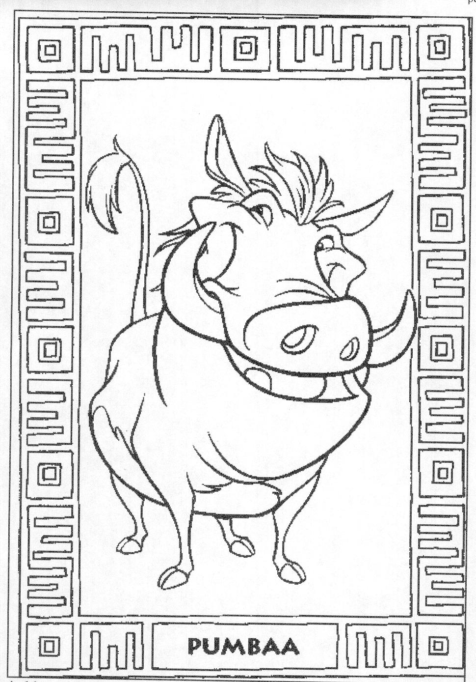 Free coloring pages lion -  Lion King Coloring Pages Download