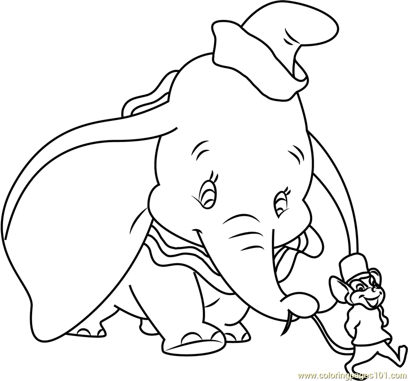 √ dumbo baby elephant coloring pages