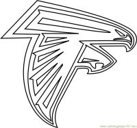 Atlanta Falcons Logo Coloring Page - Free NFL Coloring ...