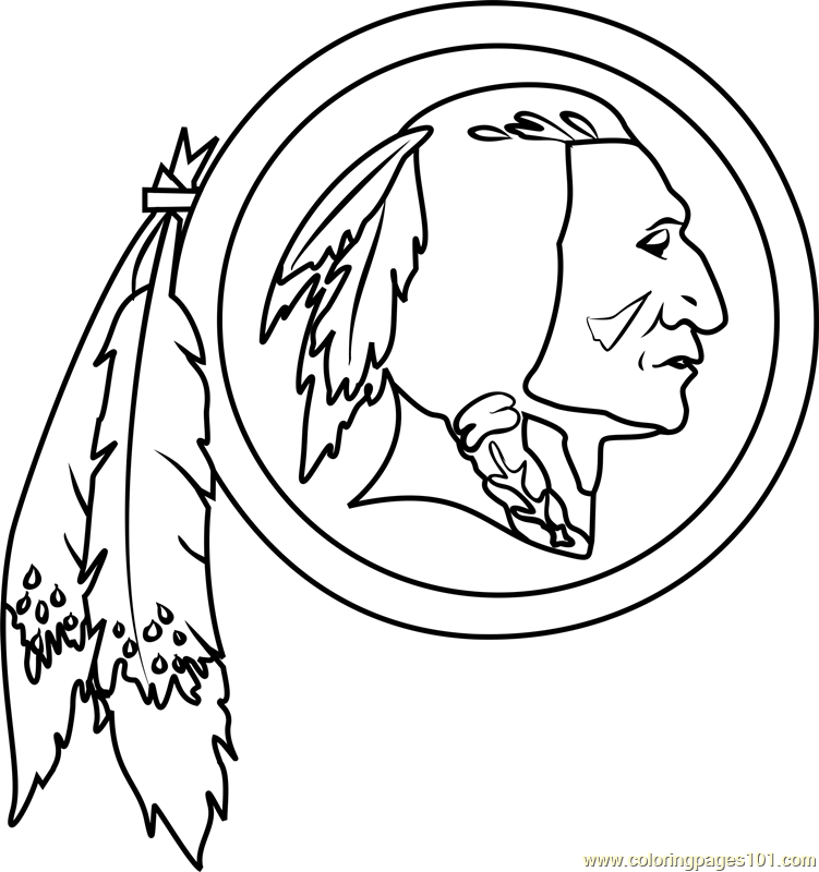 Washington Redskins Logo Coloring Page Auto Electrical Wiring Diagram