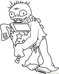 Jack-in-the-Box Zombie Coloring Page - Free Plants vs ...