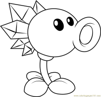 Snow Pea Coloring Page - Free Plants vs. Zombies Coloring ...