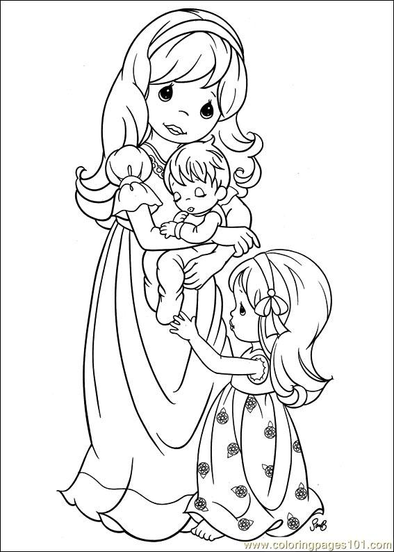 Precious Moments coloring picture Coloring pages Pinterest - fresh www happy birthday coloring pages com