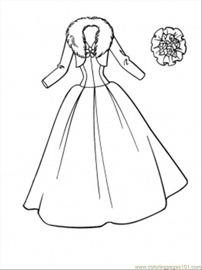 Printable Wedding Dress Coloring Pages - Bltidm