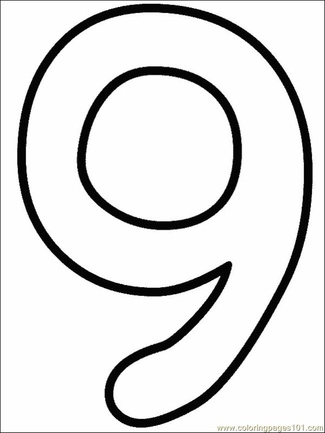 Numbers 9 Coloring Page - Free Numbers Coloring Pages - new coloring pages of number 9