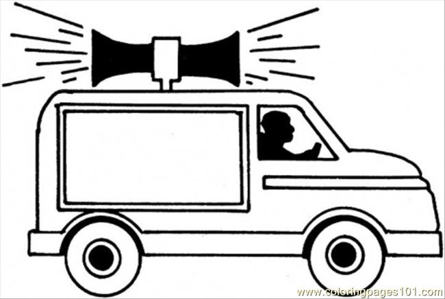 911 Emergency Car Coloring Page - Free Special Transport Coloring